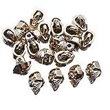 (ライチ) Lychee 20個セット シャンクボタン おしゃれ ドクロモチーフ 骸骨 メタルボタン ジーンズタック 釦 シンプル アンチーク 飾り