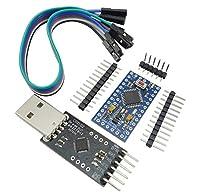 KKHMF CP2102 モジュール + Pro Mini モジュール Atmega328 3.3V 8M Arduino用 Nanoと互換