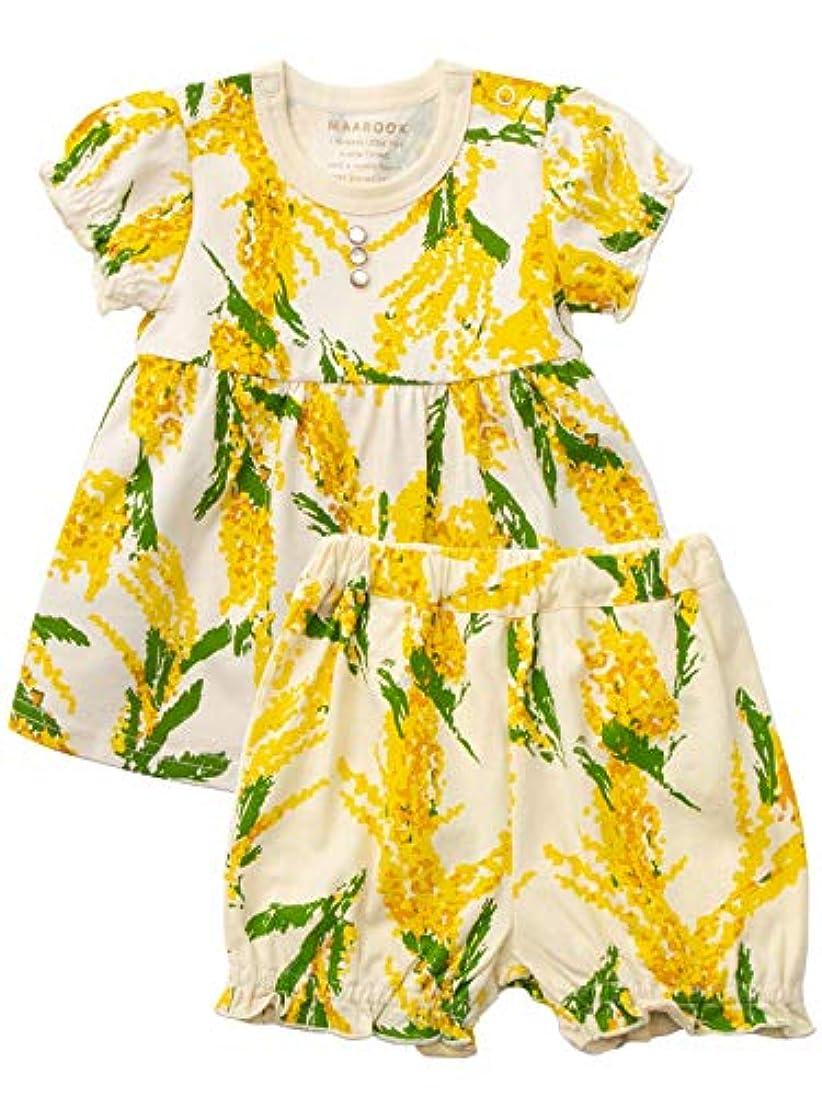 知り合いになるデクリメント見習いmaarook(マルーク) ベビー服 ミモザ トップス & ブルマ 2点 セット 赤ちゃん 半袖 女の子 花柄 カットソー