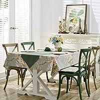 コットン リネンのテーブル クロスを印刷,長方形の農村スタイル テーブル カバー ティー テーブル コーヒー テーブル サイド テーブル プロテクター-A
