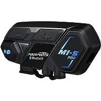 FODSPORTS バイク インカム M1-S Pro 最大8人同時通話 Bluetooth4.1 強い互換性 連続使用20時間 日本語音声案内 マルチデバイス接続 BTヘッドセット インターコム 防水 インカム バイク HI-FI音質 Siri/S-voice バイク用インカム ワイヤレス 2種類マイク バイク無線機 日本語オペレーションシステム&説明書 技適認証済み(一台セット)