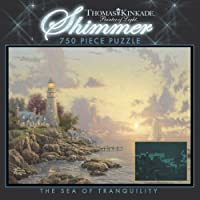 750 Piece Thomas Kinkade Shimmer-The Sea of Tranquilly