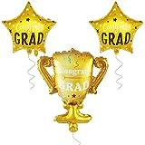 Congrad Grad 受賞歴のあるカップ卒業バルーン - 大きなヘリウムサポート - 卒業式用ヘリウムバルーン | 卒業パーティー用部品 2019 高校、大学卒業パーティー用 ゴールド