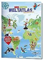 """Stickerbuch """"Mein erster Weltatlas"""": 24 Seiten mit 4 Stickerseiten und Poster"""