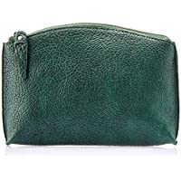 Trifine Unisex Pebbled Leather Clutch, Green, One Size