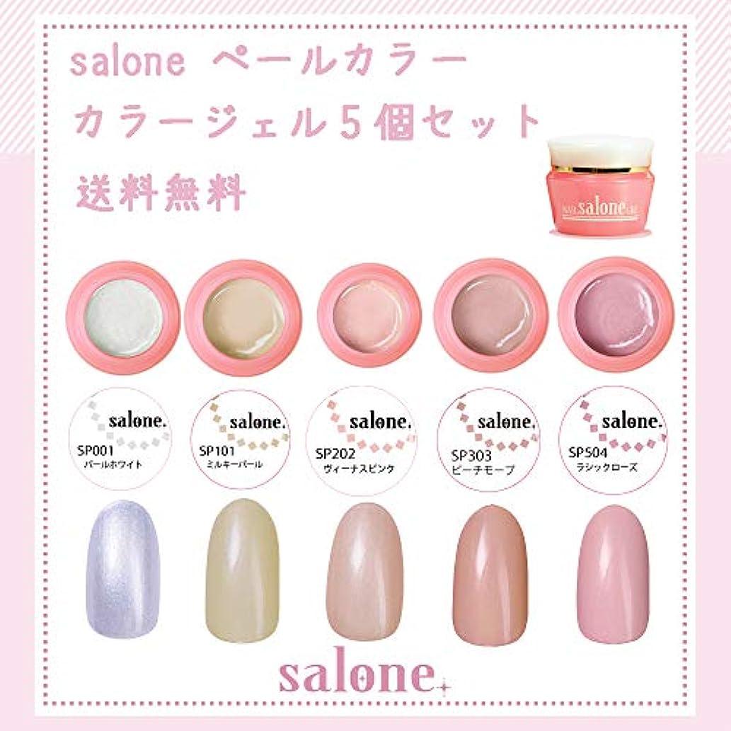 インフラ液化する良さ【送料無料 日本製】Salone ペール カラージェル5個セット 上品なパール感漂うミルキーペールカラー