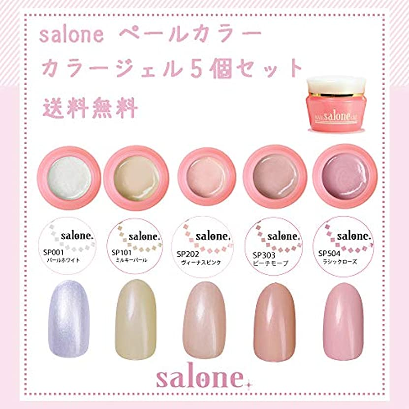 誰歌詞製造業【送料無料 日本製】Salone ペール カラージェル5個セット 上品なパール感漂うミルキーペールカラー