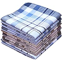 COCOUSM 3 Styles of Mens Classic Striped Cotton Handkerchiefs Pack