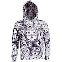 Kowelso Anime Ahegao Funny 3D All Over Print Hoodies Joggers Hipster Sweatshirts Set