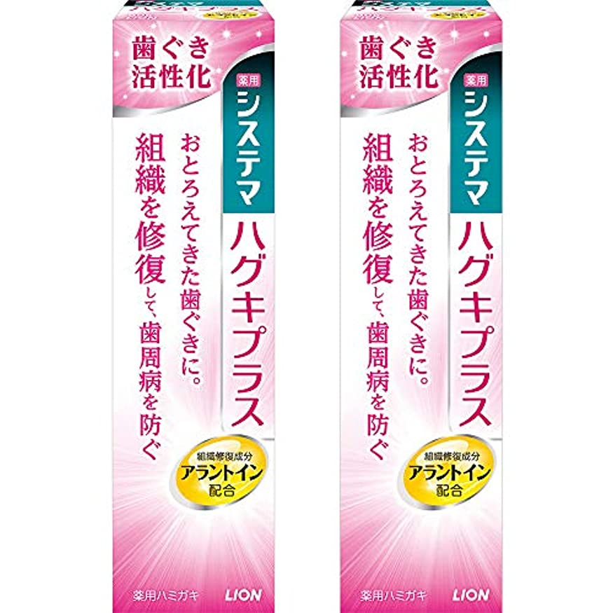 自伝シリンダー円周システマ ハグキプラス ハミガキ 90g×2個 [医薬部外品]
