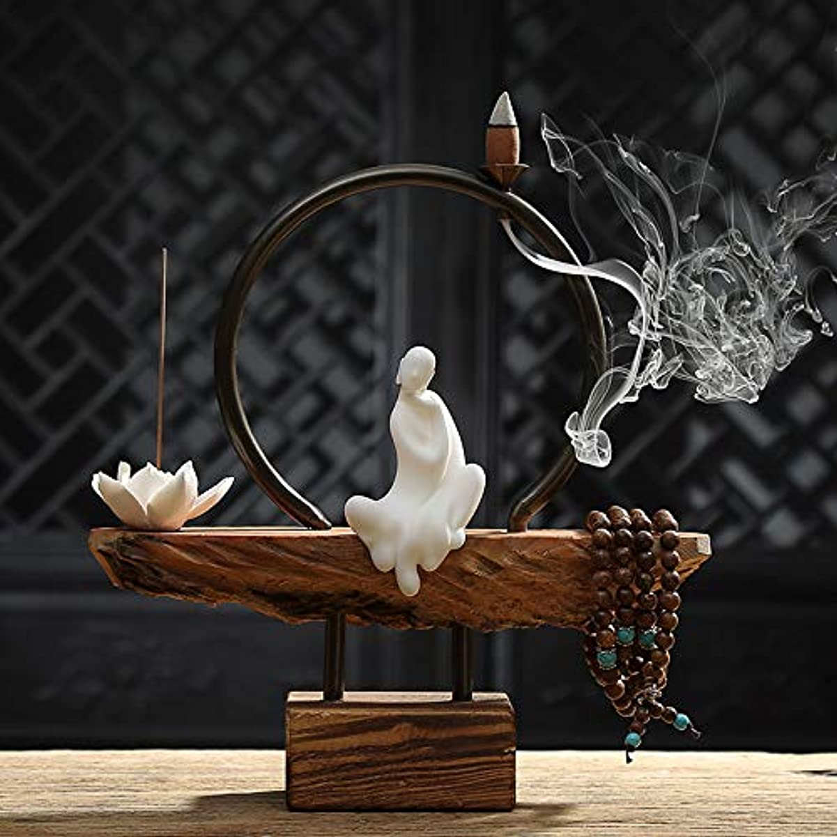 学期バース聞くホーム白檀茶式ガラス香スティック飾り香炉仏ストーブ香炉家の装飾バーナー26 * 26センチ