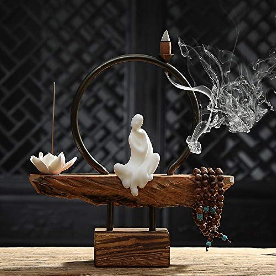 車制裁論争ホーム白檀茶式ガラス香スティック飾り香炉仏ストーブ香炉家の装飾バーナー26 * 26センチ