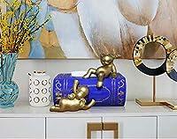 Home Crafts現代のクリエイティブ鹿装飾品家庭用紙箱リビングルームティッシュボックスホームコーヒーテーブルレストランデスクトップの装飾