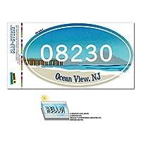 08230 海洋 View, NJ - ビーチ Pier - 楕円形郵便番号ステッカー