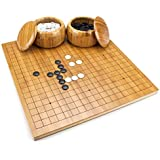 Premium 19 x 19 Inch Chinese GO Set with Reversible Bamboo Board - Includes 5 Bonus Dice!!