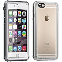 Eonfine-正規品 iPhone 6s / 6 用 防水ケース 4.7インチ フルプロテクションカバー 透明ケース クリア 薄 防水 防雪 防塵 耐衝撃 落下防止 IP68 指紋認証対応 アイフォンケース ホワイト