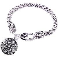 fishhook Norse Viking Vegvisir Compass Pattern Talisman for Not Losting in Self Bracelet