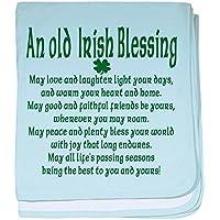 CafePress – 古いIrish Blessing幼児毛布 – スーパーソフトベビー毛布、新生児おくるみ 標準 ブルー 047459526325CD2
