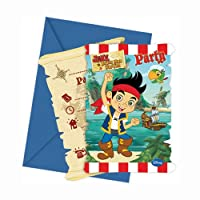 Disney Junior Yo Ho Disney Jake and the Never Land Pirates Party Invitations ,パックof 6
