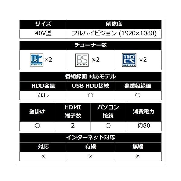シャープ 40V型 液晶 テレビ AQUOS ...の紹介画像4