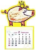 2006 かおかおぱんだマグネットミニカレンダー イエロー