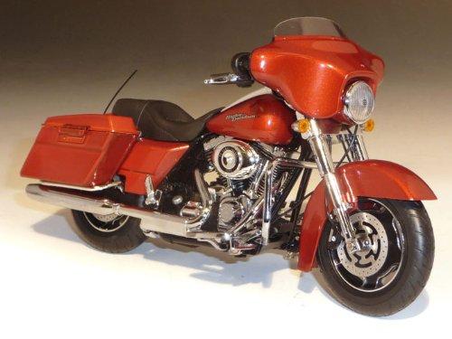 ダイキャスト バイク 2011 ハーレーダビッドソン FLHX Street Glide オレンジ 1/12