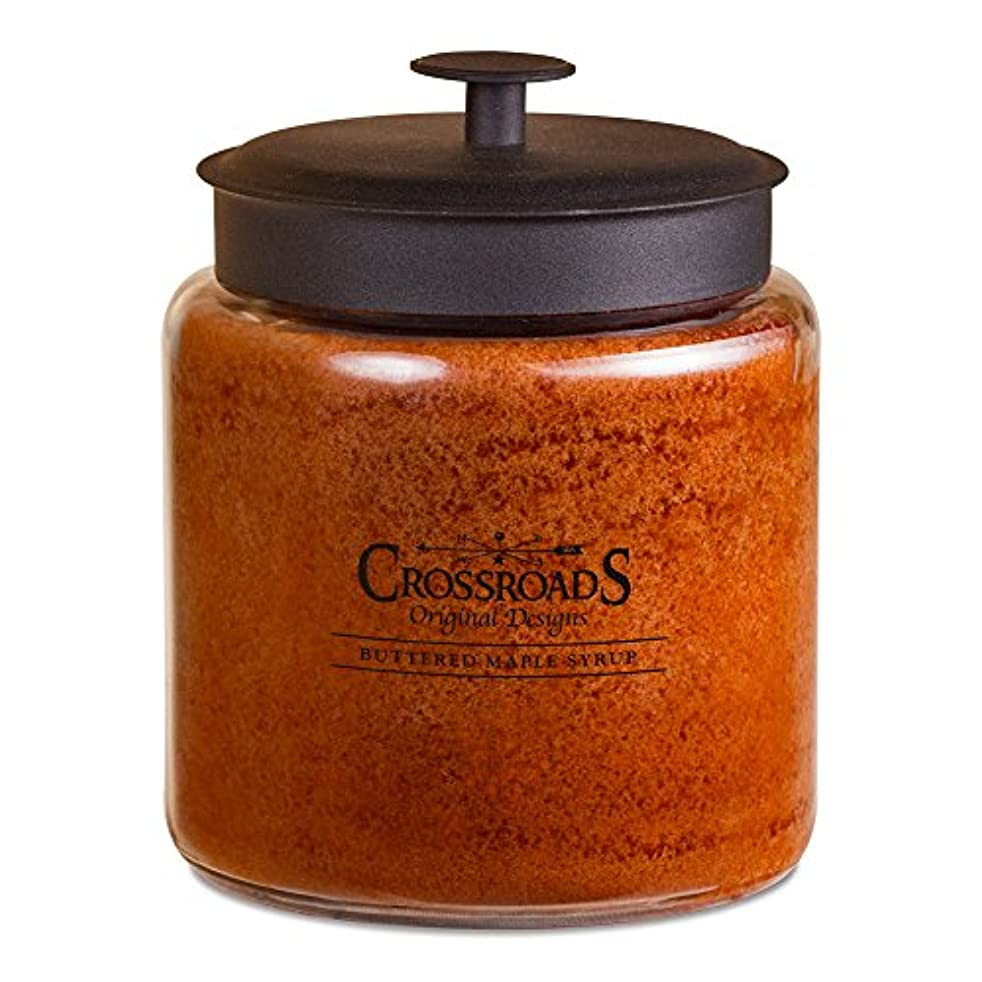 オーバーフロー側面ケープCrossroads Buttered Maple Syrup香りつき4-wick Candle、96オンス