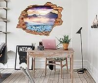 3D 雪山の景色 804 ウォールステッカー 壁の装飾 壁紙 壁画 三次元 突破口 世帯 ホームインテリアフォト Carly (150*80cm)