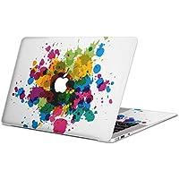 MacBook Pro Retina 13 インチ (Late2012 ~ Early2015) 専用スキンシール マックブック 13inch 13インチ Mac Book ノートブック ノートパソコン カバー ケース フィルム ステッカー アクセサリー 保護 ジャンル フラワー 絵の具 カラフル インク 006081
