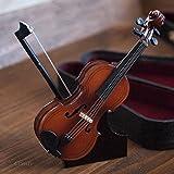 インテリア雑貨 ミニチュアオーナメント 楽器 (バイオリン, イエロー)