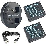 Newmowa DMW-BLE9/BLG10 互換バッテリー 2個+充電器 対応機種 DMW-BLE9, DMW-BLE9E, DMW-BLG10 and Panasonic Lumix DMC-GF3 DMC-GF5 DMC-GF6 DMC-GX7 DMC-LX100 DC-GX9