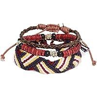 [エイソス]asos Icon Brand Embroidered Bracelet Pack アイコンブランド エンブロイダード ブレスレットパック メンズ アクセサリー brown 700278 one size [並行輸入品]
