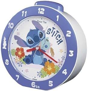 セイコークロック Disney (ディズニータイム) 目覚し時計 リロ&スティッチ ベル音アラーム FD454L
