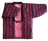 綿の郷 Sサイズ 干せば膨らむ暖か中わた綿入り久留米織婦人半纏 女性用