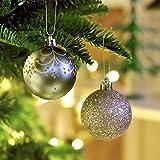 Valery Madelyn 6cm 24個入り クリスマス オーナメント ボール 銀 緑 蓝 北欧風 クリスマスツリー 飾り 雑貨 装飾 サイズ 6cm