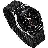 EloBeth サムスン Gear s2 Milanese watch band sm-r732版 samsung gear s2スマートウォッチ バンド サムスン Gear s2の腕時計のためのブレスレット スマート スマートウォッチ gear s2 classic バンド ミラノ バンド(ブラック)