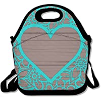 DRVLTY Lunch Boxes Love Heart Lunch Tote-Personalized Lunch Bags