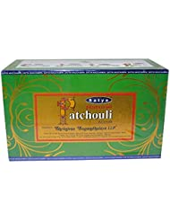 自然Patchouli Incense Sticks – By Satya Nag Champa – パックof 15 g x 12ボックス – 180 g合計