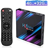 EstgoSZ Android 9.0 TV Box, H96 MAX RK3318 4GB+32GB Quad-core 4K Smart TV Box, Support 2.4G/2.5G Dual WiFi/HDR/Bluetooth/USB 3.0/3D/AV