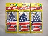 スターズ&ストライプス Little Trees エアフレッシュナー3個セット /リトルツリー・エアフレ