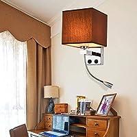 ブラケットライト 外灯 壁掛け照明 現代風 室内照明/居間照明 階段照明 LEDライト 飾り 柔らかな光 廊下/階段 非防水 おしゃれ 耐久性 (コーヒーA)