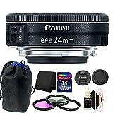 Canon EF - S 24mm f / 2.8STMレンズ32GBアクセサリーキットfor CanonデジタルSLRカメラ