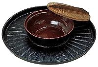 30cm 焼きしゃぶ鍋B(木蓋付) 鉄 木