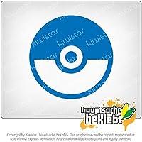 ポケボール - チャンピオンボール - すべてをキャッチ Pokeball - Championball - Catch them all 10cm x 10cm 15色 - ネオン+クロム! ステッカービニールオートバイ