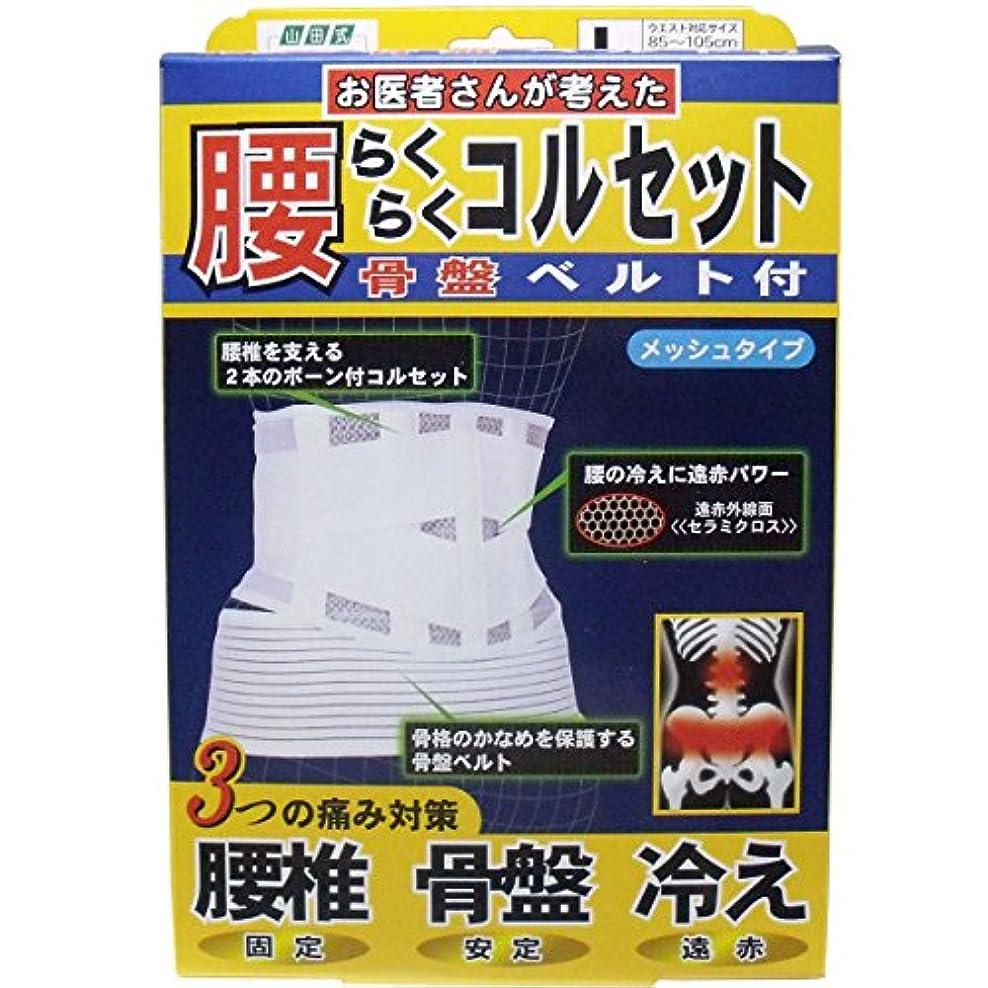 フィッティング耐久測る腰らくらくコルセット 骨盤ベルト付 メッシュタイプ Lタイプ【2個セット】