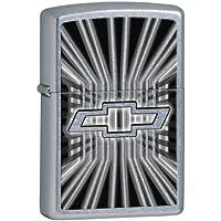 "Zippo 28260 ""シボレー ロゴ"" Street Chrome Lighter, ジッポーライター"