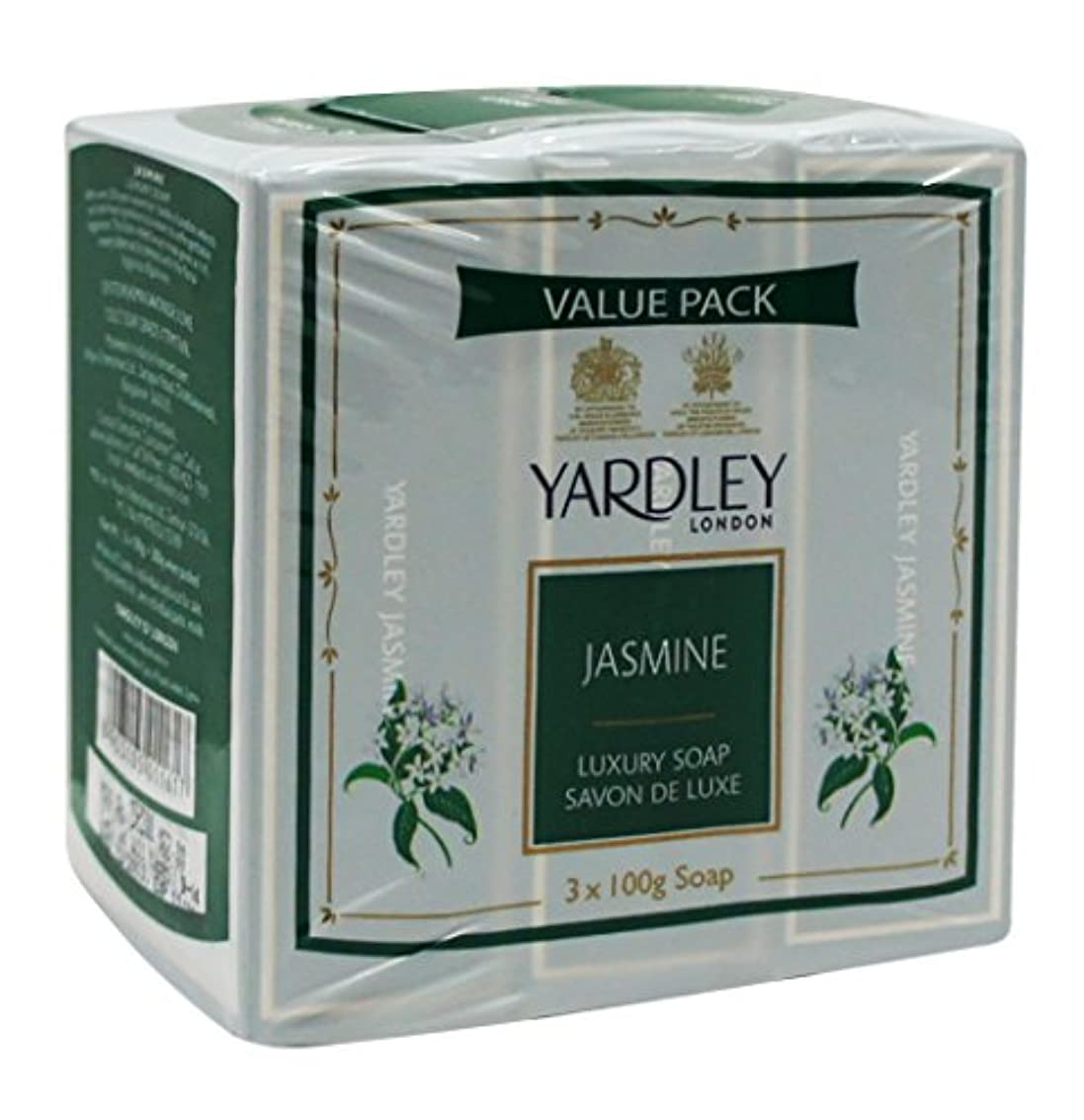 秘密の機動有害Yardley London Value Pack Luxury Soap 3x100g Jasmine by Yardley
