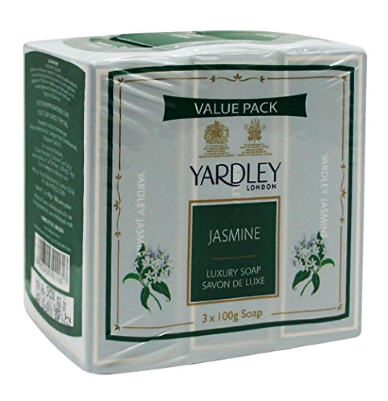有毒地質学知るYardley London Value Pack Luxury Soap 3x100g Jasmine by Yardley