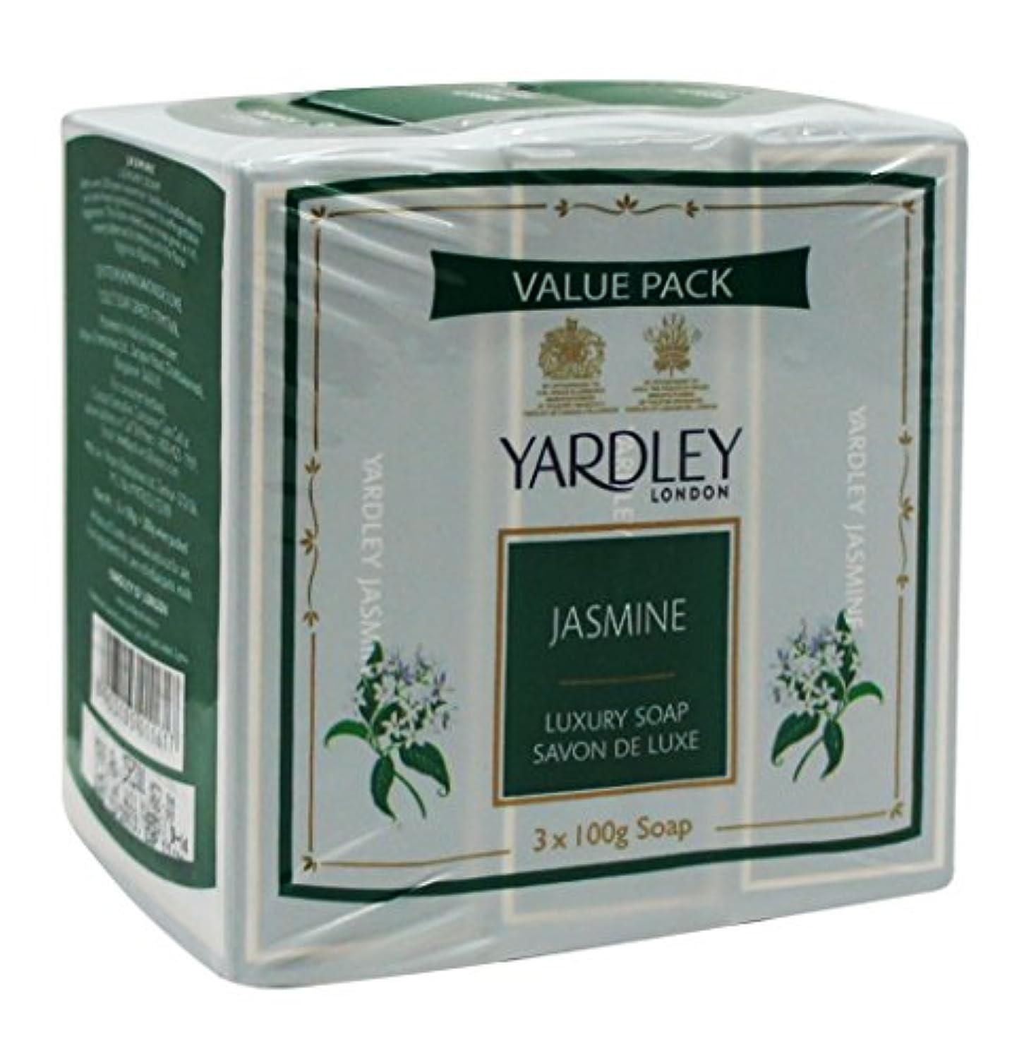 耐えられる近所のジェムYardley London Value Pack Luxury Soap 3x100g Jasmine by Yardley
