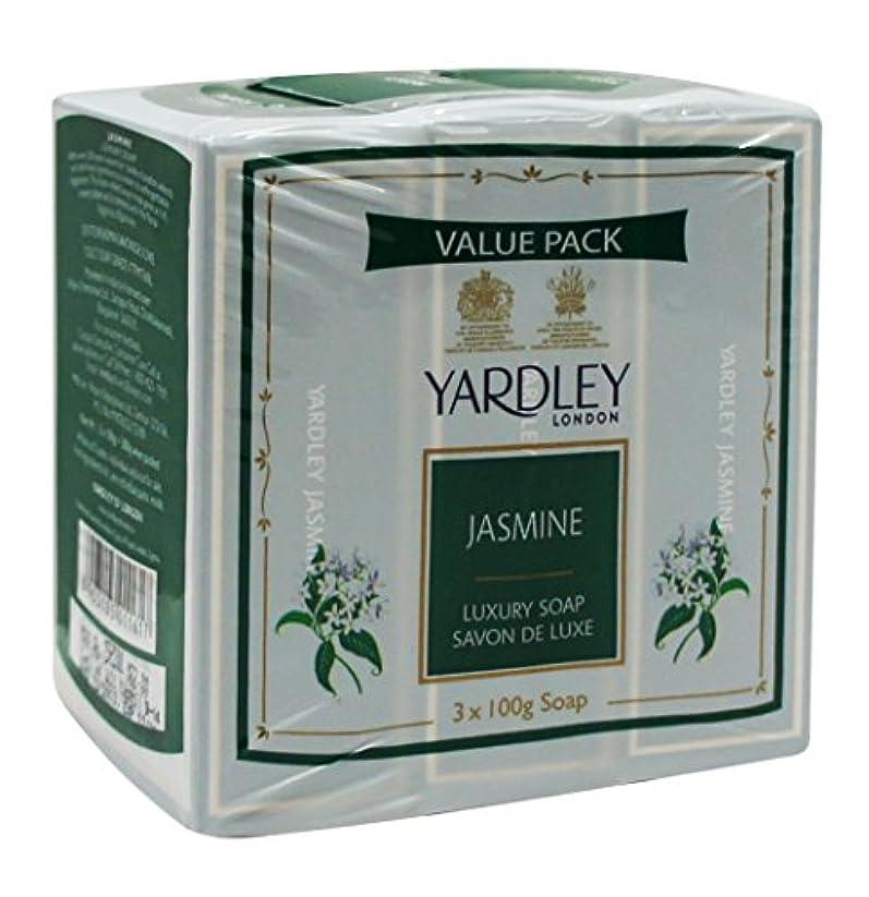 広がりドループ終了するYardley London Value Pack Luxury Soap 3x100g Jasmine by Yardley